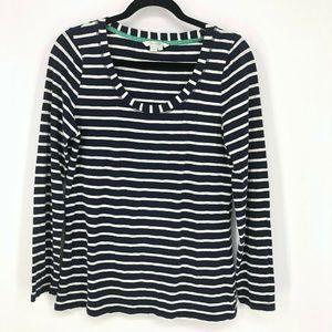 Boden Striped Cotton Blend Long Sleeve Shirt